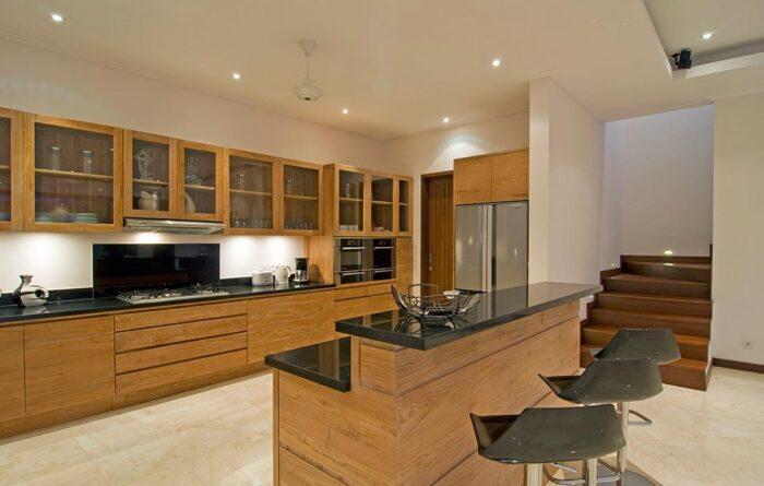 Cocina con iluminacion LED