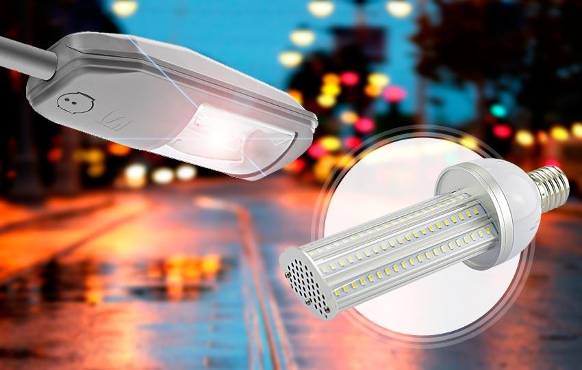 Farola ONYX de Socelec con bombilla LED