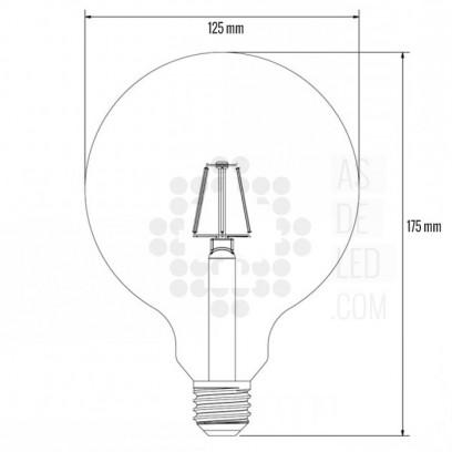 Diagrama nombilla filamento LED globo - BOC3,5FILRW