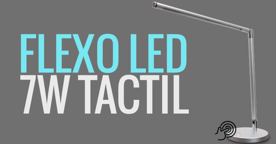 Flexo LED de 7W con encendido táctil y luz regulable