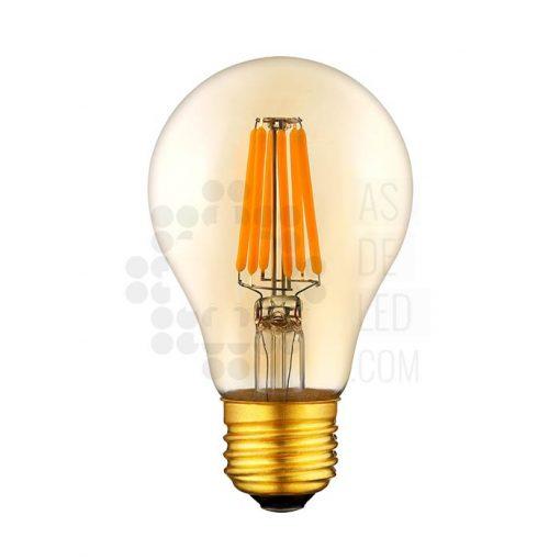 Bombilla globo 60 mm LED filamento dorada - boc6fila60il