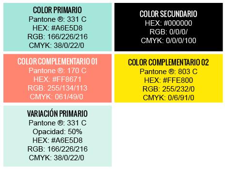 Colores corporativos logotipo AS de LED