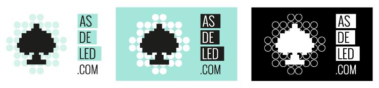 Directrices logotipo ASDELED - Variaciones