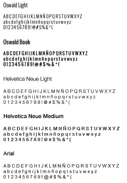Tipografías - Fuentes - AS de LED