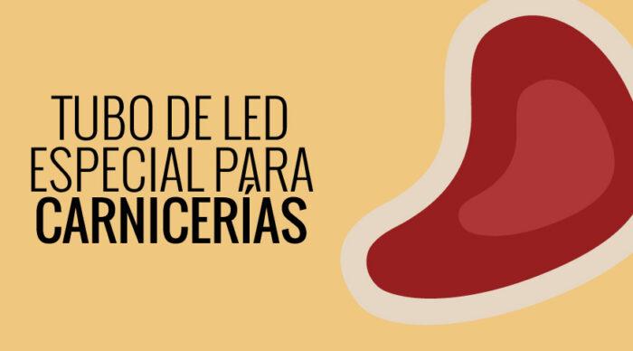 Información sobre tubos de LED con luz rosada para iluminar carnicerías y jamones