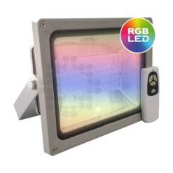 Comprar proyector LED exterior 30W RGB con mando a distancia incluido 01