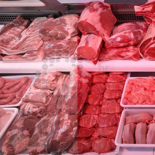 Comprar tira de LED con luz rosada para carniceria y carnes rojas - Diferencia