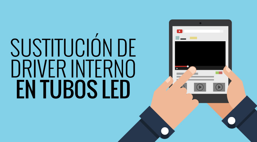 Video para sustituir el driver interno de un tubo de LED averiado