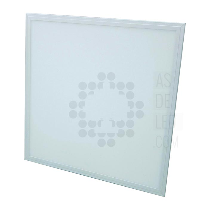 Panel LED cuadrado de 60x60 con marco de color blanco