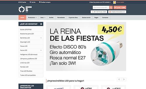 Tienda online de LED - Bombillasdeled.com - Captura de pantalla