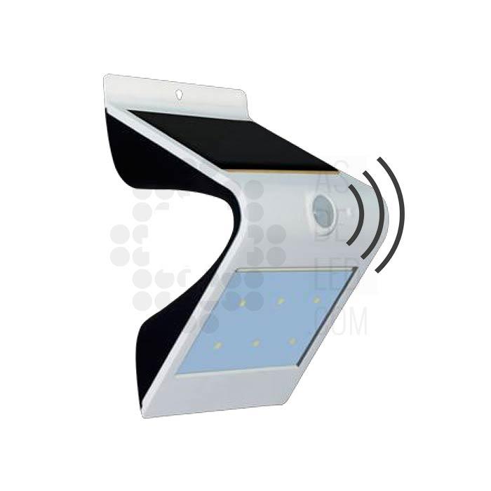 Aplique de pared led con placa solar as de led - Aplique solar exterior ...