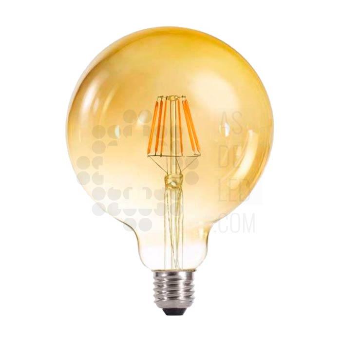 Bombilla globo 125 mm LED filamento dorada - boc6filg125il
