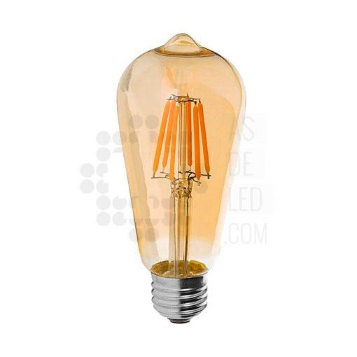Bombilla LED filamento dorada E27 BOC6FILST64IL