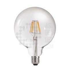 Comprar bombilla LED filamento globo 125 mm cristal