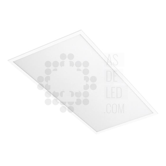 Panel LED rectangular - 600 x 1200 - Marco blanco liso