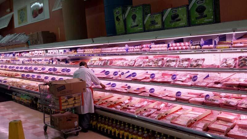 Ejemplo de iluminación LED en supermercado 04