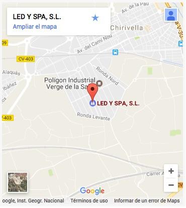 Mapa ubicacion LED Y SPA SL (Valencia)