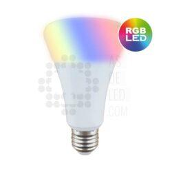 Comprar bombilla LED 9W, casquillo E27 y luces RGB+W con mando RF 01