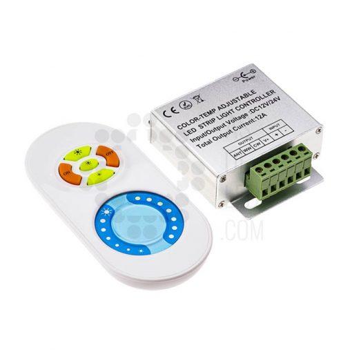 Comprar controlador LED con mando para tira LED monocromo (COCCT24KS)