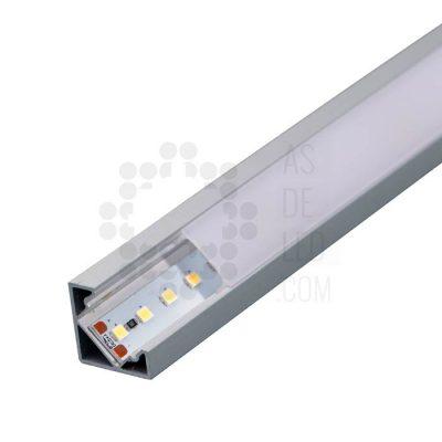 Comprar Perfil de aluminio para tira LED - Triangular superficie