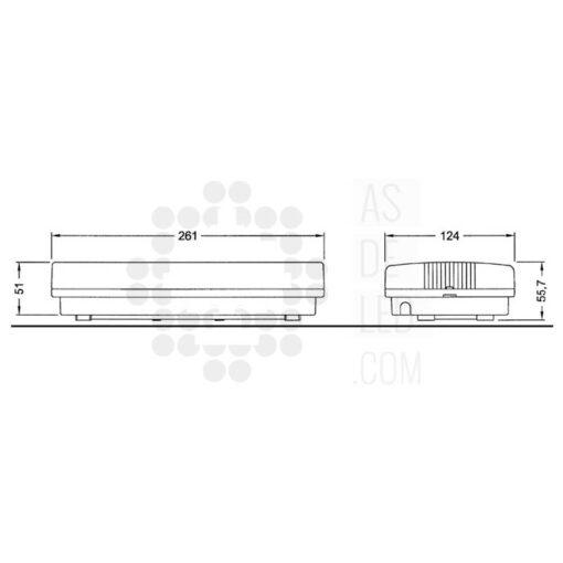 Medidas de luminaria LED de emergencia de interior o exterior