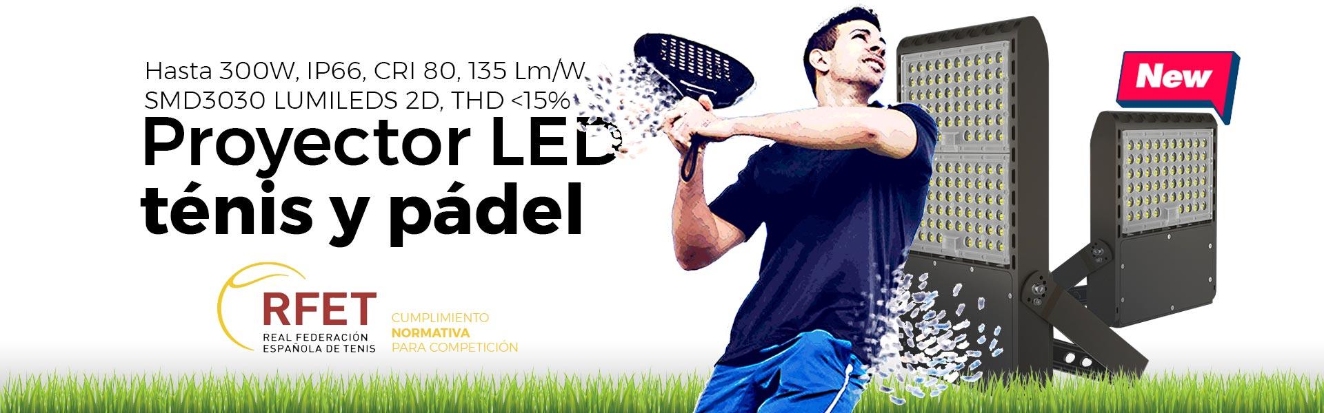 Comprar foco LED para iluminar pistas de padel y de tenis