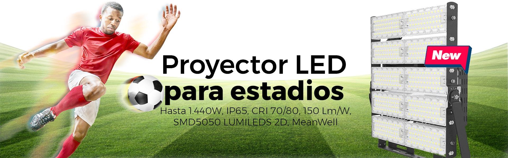 Comprar proyectores de LED para estadios de futbol y atletismo