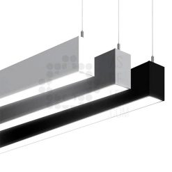 Comprar luminaria LED lineal, suspendida, aluminio, varios colores, interconectable 04