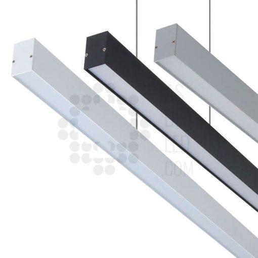 Comprar luminaria LED lineal, suspendida, aluminio, varios colores, interconectable 01
