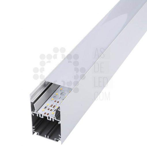 Comprar luminaria LED lineal, suspendida, aluminio, varios colores, interconectable 02