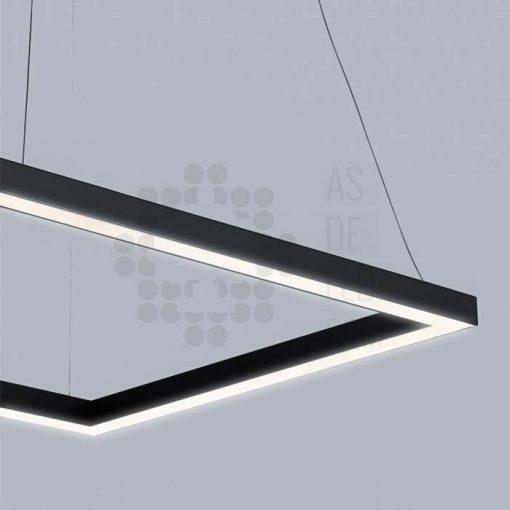 Comprar luminaria LED lineal, suspendida, aluminio, varios colores, interconectable 03