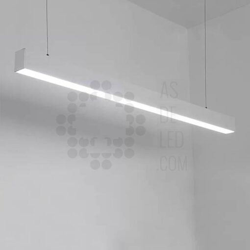 Comprar luminaria LED lineal, suspendida, aluminio, varios colores, interconectable plata