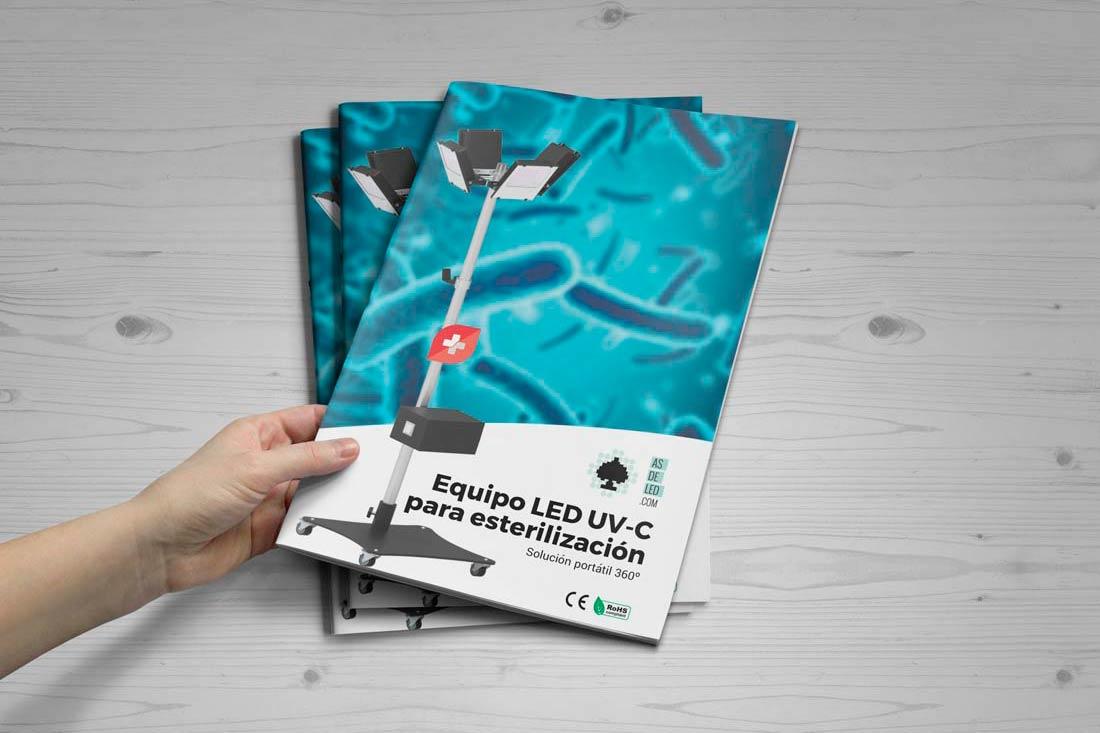 Catalogo de equipo LED UV-C portátil para desinfección LUVC-360GR - Portada