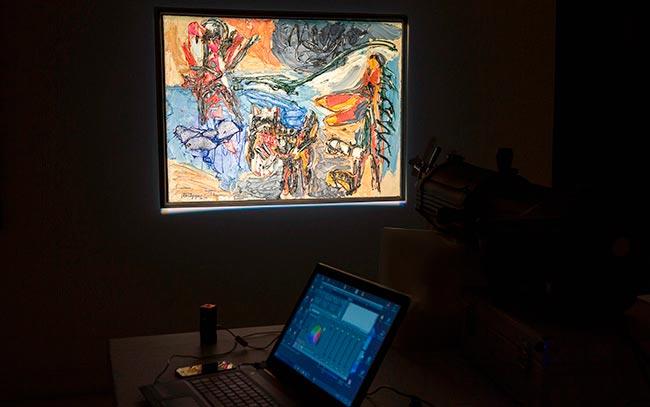 El Metodo Matisse LED aplicado sobre una obra de arte