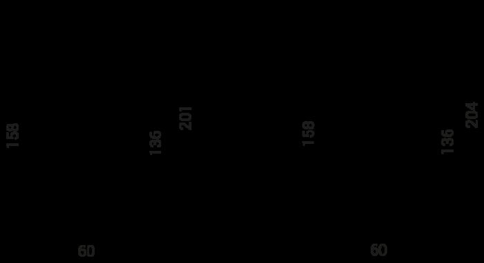 Foco LED FALCO - Matisse LED - medidas diagrama