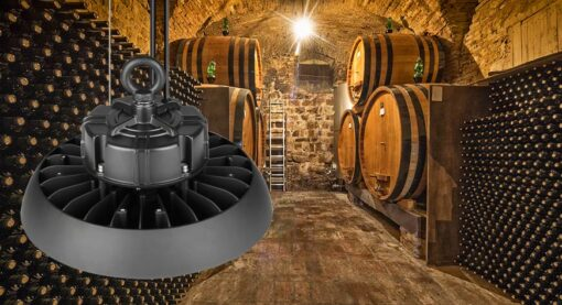 luminación LED para bodegas y vinotecas - Campana LED para vino