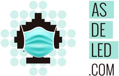 Logotipo ASDELED 2020 con mascarilla
