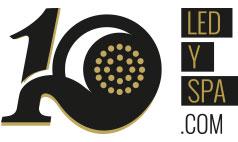 Logotipo LEDYSPA especial 10 aniversario