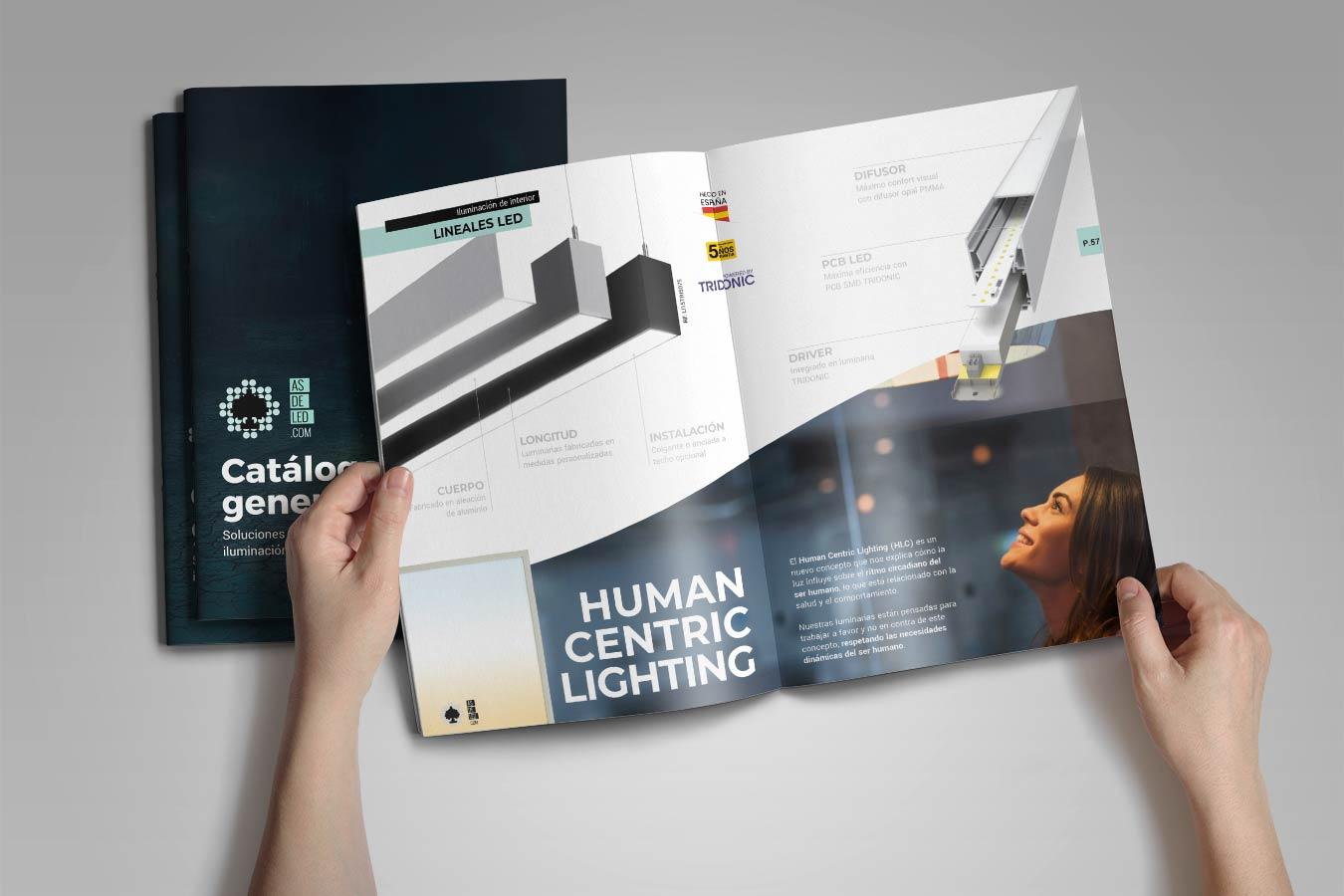 Mockup catalogo de iluminacion LED 2021 en formato PDF (home)