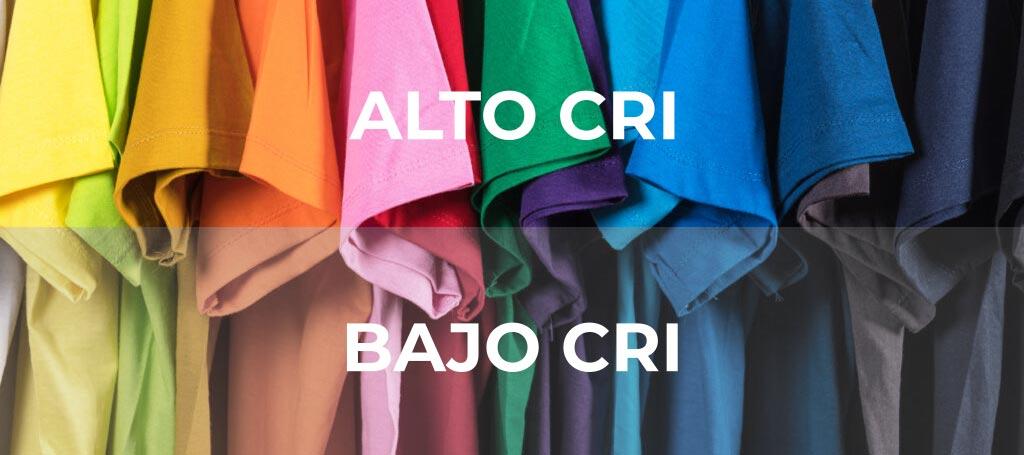 Diferencia de reproducción de color según CRI (simulación)