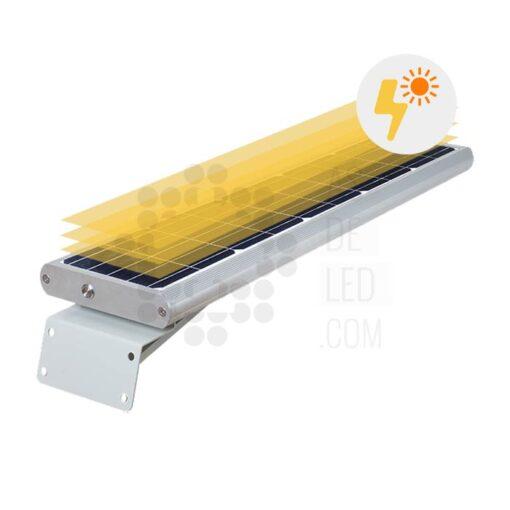 Comprar farola LED solar 20W con panel fotovoltaico y batería - 04