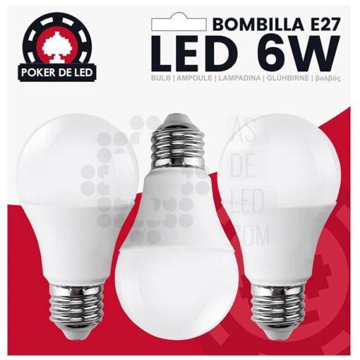 Comprar pack de bombillas de LED E27 6W - Rosca 100% compatible 03