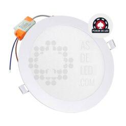 Comprar placa LED slim empotrable redondo 18W - POKER DE LED 03