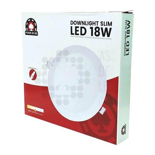 Comprar placa LED slim empotrable redondo 18W - POKER DE LED 01