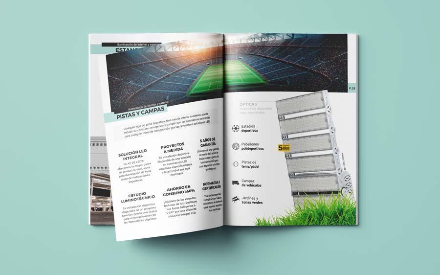 Mockup catalogo de iluminacion LED 2021 en formato PDF (2021)